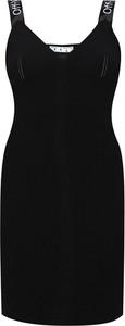 Czarna sukienka Off White z bawełny mini