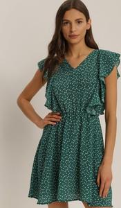 Zielona sukienka Renee mini w stylu casual