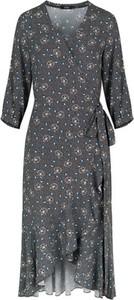 Sukienka ECHO z dekoltem w kształcie litery v z długim rękawem midi