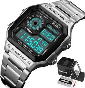 Zegarek MĘSKI elektroniczny SKMEI 1335 LED srebrny