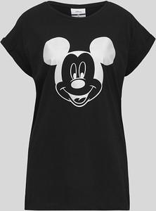 Czarny t-shirt CLOCKHOUSE z bawełny z okrągłym dekoltem w młodzieżowym stylu