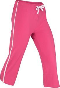 Różowe spodnie sportowe bonprix bpc bonprix collection