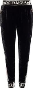 Czarne spodnie sportowe Dolce & Gabbana z dresówki