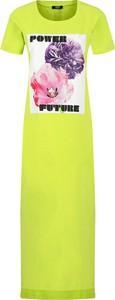 Sukienka Liu-Jo z krótkim rękawem maxi prosta