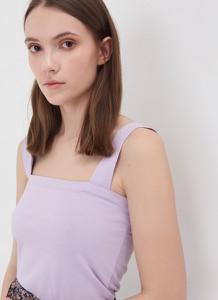 Fioletowa bluzka Sinsay w stylu casual