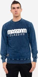 Niebieska bluza Mass z żakardu