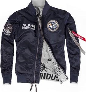 Niebieska kurtka Alpha Industries w stylu casual