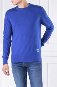 Niebieski sweter Calvin Klein w stylu casual z wełny