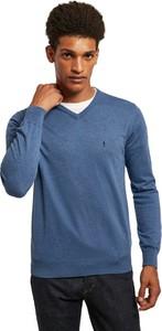 Niebieski sweter Polo Club z bawełny w stylu casual