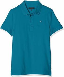 Niebieska koszulka dziecięca amazon.de z krótkim rękawem
