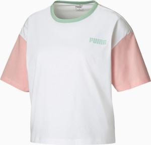 Bluzka Puma z okrągłym dekoltem w sportowym stylu z dżerseju