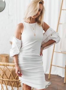 Sukienka SELFIEROOM z okrągłym dekoltem mini dopasowana