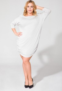 Sukienka sukienki.pl midi z długim rękawem z golfem