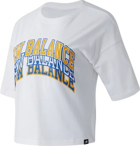 Bluzka New Balance z krótkim rękawem z dzianiny