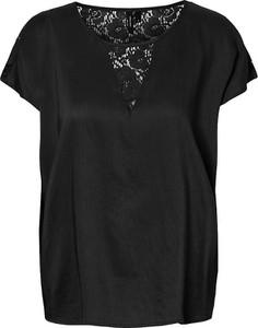 Czarna bluzka Vero Moda z krótkim rękawem
