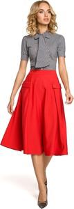 Czerwona spódnica MOE midi
