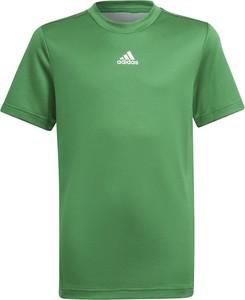 Zielona koszulka dziecięca Adidas z krótkim rękawem dla chłopców