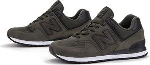 Brązowe buty sportowe New Balance ze skóry 574