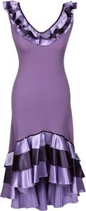 Sukienka Fokus w stylu glamour z dekoltem w kształcie litery v