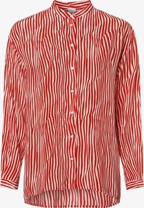Czerwona bluzka BOSS Casual z jedwabiu