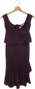 Fioletowa sukienka Sistaglam mini z dekoltem w kształcie litery v