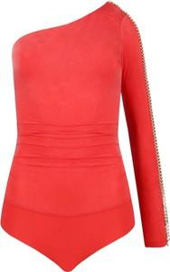 Czerwona bluzka Elisabetta Franchi z długim rękawem
