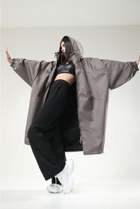 Płaszcz REST FACTORY w stylu casual z tkaniny