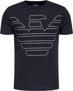 Granatowy t-shirt Emporio Armani