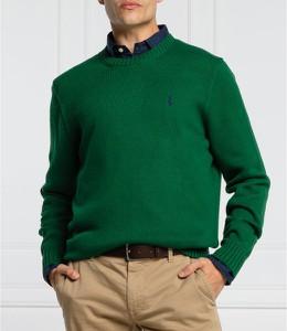 Zielony sweter POLO RALPH LAUREN w stylu casual