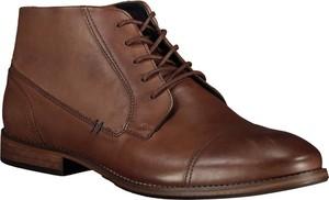 Brązowe buty zimowe Lavard ze skóry