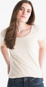 T-shirt YESSICA z okrągłym dekoltem z krótkim rękawem