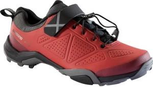 Czerwone buty sportowe Shimano