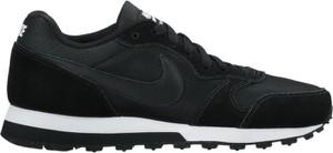 Czarne buty sportowe Nike z płaską podeszwą sznurowane md runner
