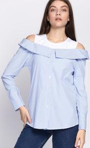 Niebieska koszula born2be z długim rękawem