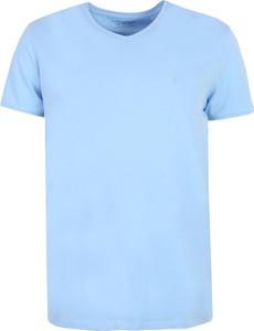 Niebieski t-shirt Top Secret w stylu casual z krótkim rękawem