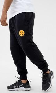 Czarne spodnie sportowe Mystars z dresówki w sportowym stylu