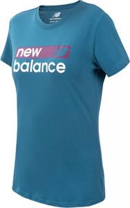 Bluzka New Balance z krótkim rękawem w sportowym stylu z dżerseju