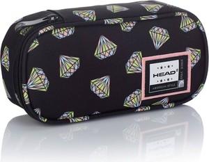 Piórnik saszetka sztywna HEAD czarny w diamenty HD-341