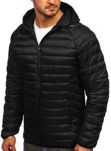Czarna kurtka Denley w stylu casual krótka