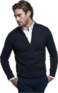 Granatowy sweter Borgio z wełny
