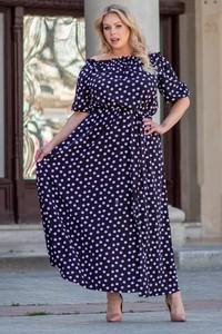 Sukienka KARKO maxi hiszpanka dla puszystych