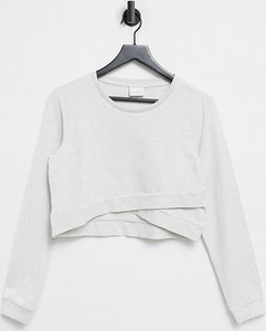 Mama Licious Mamalicious Maternity – Szara krótka bluza z funkcją karmienia-Szary
