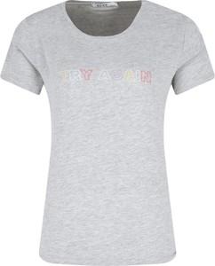 T-shirt NA-KD z krótkim rękawem z okrągłym dekoltem