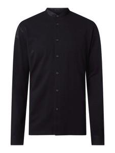 Czarna koszula Esprit z długim rękawem ze stójką