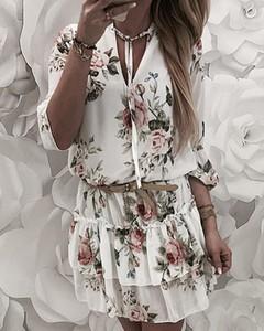 Sukienka Kendallme mini z długim rękawem hiszpanka