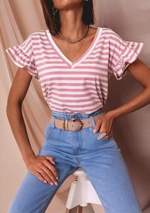Brązowa bluzka Latika z krótkim rękawem