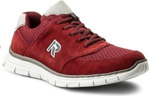 Bordowe buty sportowe rieker ze skóry ekologicznej