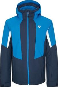 Niebieska kurtka Ziener w sportowym stylu