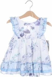Niebieska sukienka dziewczęca La Ormiga