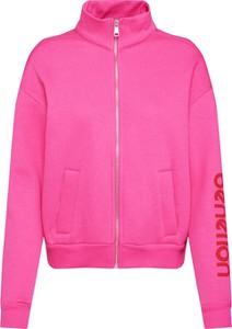 Różowa kurtka United Colors Of Benetton krótka z dresówki w stylu casual